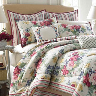 Laura Ashley Melinda 4-piece Comforter Set with European Sham Sold Separately