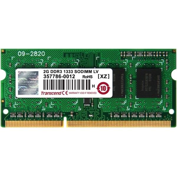 Transcend 2GB DDR3L 1333 SO-DIMM CL9 1Rx8