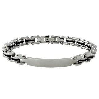 Gravity Silvertone Men's ID Bracelet