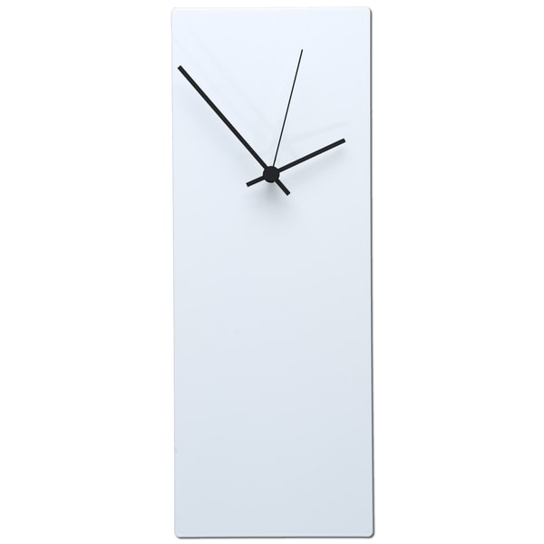 Whiteout Minimalist Modern White with Accent Colored Hands Wall Clock