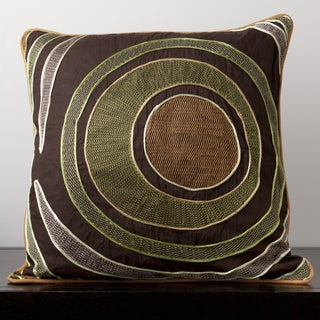 Earth Circles Cotton 18-inch Decorative Pillow