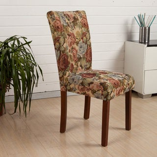 HLW Arbonni Modern Parson Floral Dining Chairs (Set of 2)