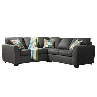 Furniture of America Playan Gray Fabric Sectional Set