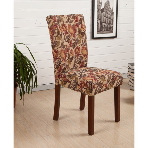 HLW Arbonni Modern Parson Tulip Floral Dining Chairs Set