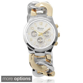 Geneva Platinum Women's Stainless Steel Link Watch