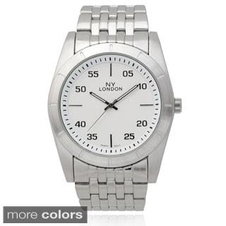 Geneva Platinum Men's Quartz Link Watch