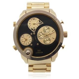 Geneva Platinum Men's Multi Time Zone Link Watch