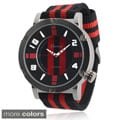 Geneva Platinum Men's Analog Nylon Strap Watch