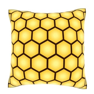Abstract Honeycomb Form 18-inch Velour Throw Pillow
