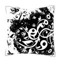 Abstract Grunge Ornament 18-inch Velour Throw Pillow