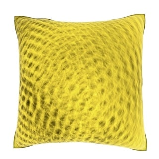 Abstract Yellow Honeycomb Pattern 18-inch Velour Throw Pillow