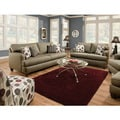 Furniture of America Dandelien Transitional 2-piece Fabric Sofa and Loveseat Set