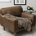 Plush Decorative Leopard Throw