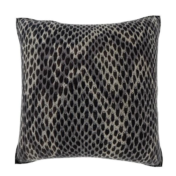 Black Snakeskin 18-inch Velour Throw Pillow