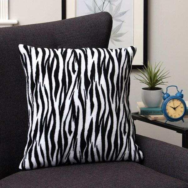 Plush Decorative Zebra Throw Pillow