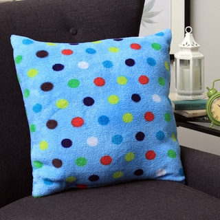 Plush Decorative Bright Dots Throw Pillow