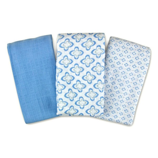 Summer Infant SwaddleMe Muslin Blanket in Distress Geo (3 Pack)