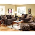 Furniture of America Chelmsfort 2-piece Transitional Fabric Sofa and Loveseat Set