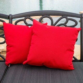 "Christopher Knight Home Canvas 17"" Jockey Red Outdoor Sunbrella Pillow (Set of 2)"