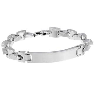 Stainless Steel Men's ID Mariner Link Bracelet