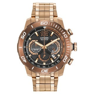 Citizen Men's 'Primo Stingray' Analog Display Rose Goldtone Stainless Steel Watch