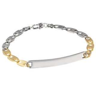 Two-tone Stainless Steel Men's ID Bracelet