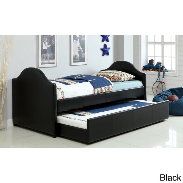 Daybed with trundle storage hillsdale furniture bed mattress sale - Furniture Of America Camillia Leatherette Platform With