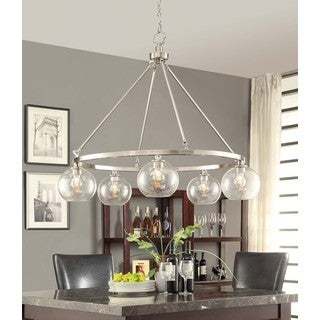 Marisol Brushed Nickel 5-light Chandelier