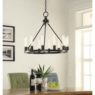 Ana Oil Rubbed Bronze 12-light Chandelier