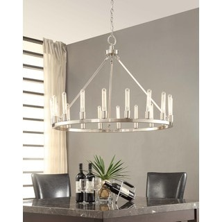 Ana Brushed Nickel 18-light Chandelier