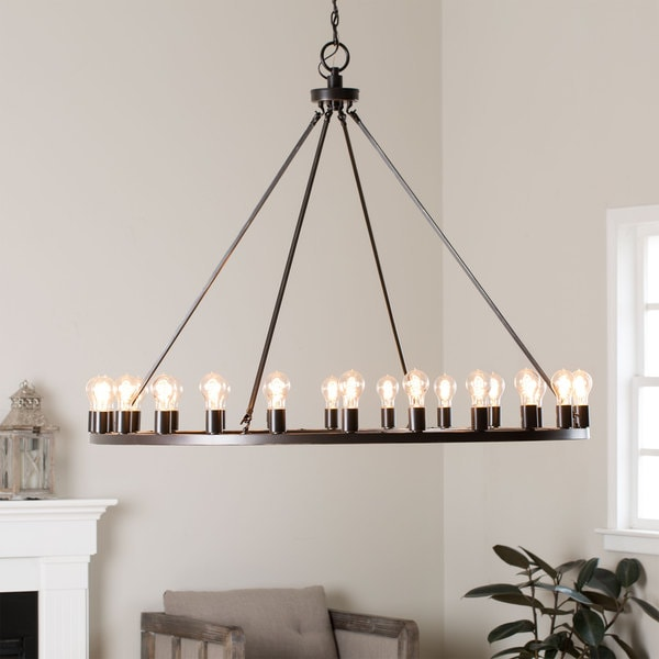 Liam Oil Rubbed Bronze 24 Light Chandelier