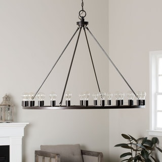 Liam Oiled Bronze 24-light Chandelier