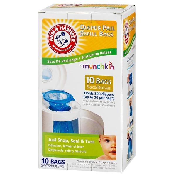 Munchkin Arm & Hammer Diaper Pail Bag Refills (Pack of 10)