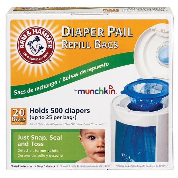 Munchkin Arm & Hammer Diaper Pail Bag Refills (Pack of 20)