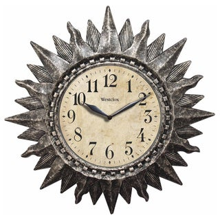 16-inch Silver Sunburst Wall Clock