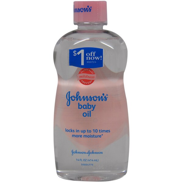 Johnson & Johnson Original 14-ounce Johnson's Baby Oil