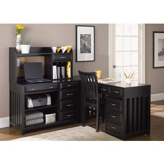 Liberty Hampton Bay Black 6-piece Home Office Set