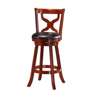 Cherry Diamond Back Swivel Barstool