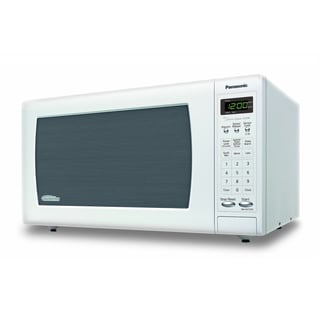 Panasonic 1.6 Cubic Foot White Stainless Steel Microwave Oven