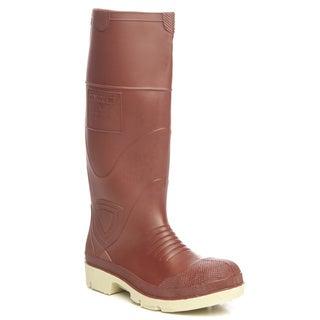 Men's Premier 15-inch Brick Red Plain Toe Knee Boots