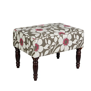 angelo:HOME Brighton Hill Gray Sky Modern Flower Small Bench