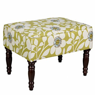 Portfolio Jemma Green Floral Small Bench