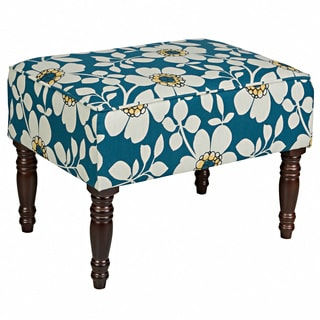 Portfolio Jemma Blue Floral Small Bench
