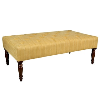 angelo:HOME Margaux Golden Yellow Groove Tufted Cocktail Ottoman