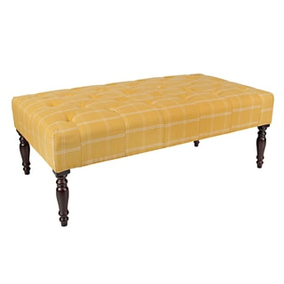Portfolio Teague Yellow Square Tufted Cocktail Ottoman