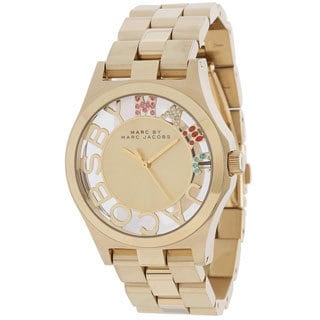 Marc Jacobs Women's 'Henry' Skeleton Goldtone Watch