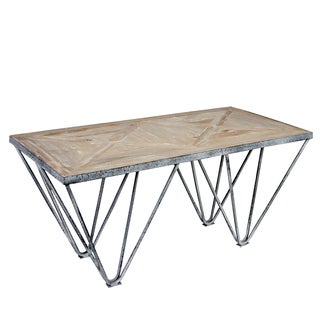 angelo:HOME Chelsea Road Wood and Metal Rectangular Cocktail Table