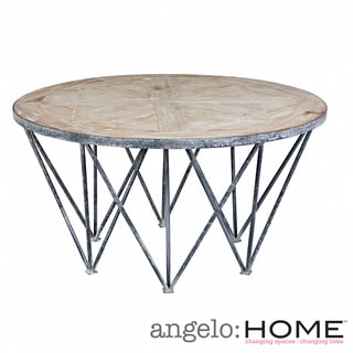 angelo:HOME Chelsea Road Wood and Metal Round Cocktail Table