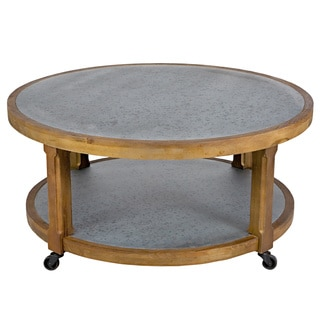 Better Living Maisie Zinc and Pine Cocktail Table