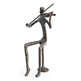 Male Violin Player Cast Bronze Sculpture